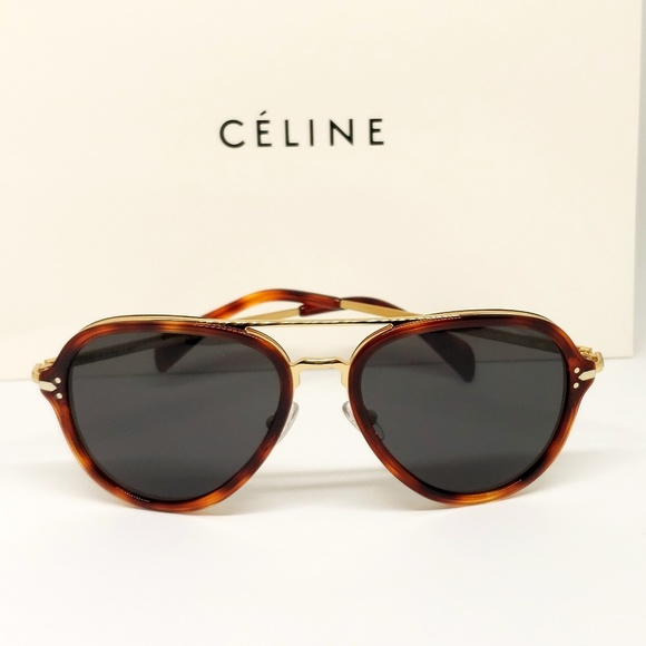 440243722b2 Celine Sunglasses Gold Havana Frame Pilot. Listing Price   229